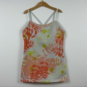Lululemon Floral Print Power Y Tank Top / Size 6
